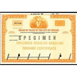 Board of Trade of the City of Chicago, Specimen Demand Certificate.