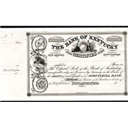 Bank of Kentucky, Proof Stock Certificate.