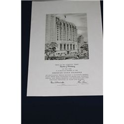 American Stock Exchange Unframed Membership Certificate.