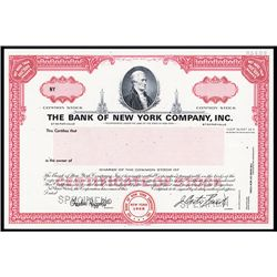 Bank of New York Company, Inc. Specimen Stock.