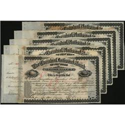 Chemical National Bank, Issued Stock Lot of 5.