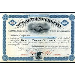 Mutual Trust Co., Specimen Stock.