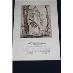New York Stock Exchange Unframed Membership Certificate.