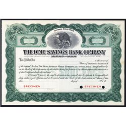 Dime Savings Bank Co. Specimen Stock.