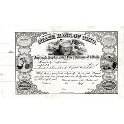 State Bank of Ohio, Proof Stock Certificate.
