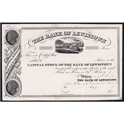 Bank of Lewistown Specimen Stock.