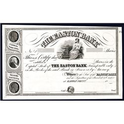 Easton Bank, Proof Stock Certificate.