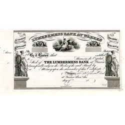 Lumbermens Bank, Proof Stock Certificate.