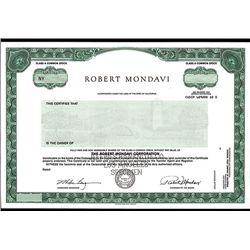 Robert Mondavi Corp., Specimen Stock.