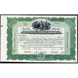 Continental Tobacco Co., Specimen Stock.