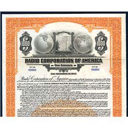 Radio Corporation of America, Specimen Bond.