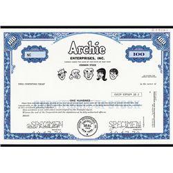 Archie Enterprises, Inc., Specimen Stock.