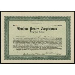 Houdini Picture Corp., Issued Stock.