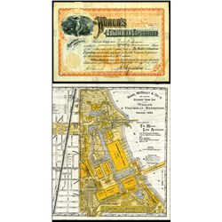 World's Columbian Exposition, Issued Stock and a Rand, McNally & Co. Map of Expo.