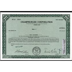 Champburger Corp., Issued Stock Mohammod Ali Was a Partner in this Company.