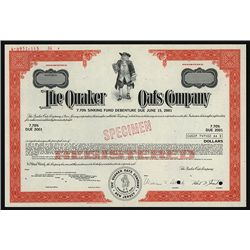 Quaker Oats Co. Specimen Bond.