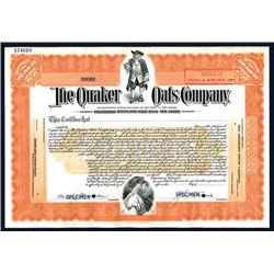 Quaker Oats Co., Specimen Stock.