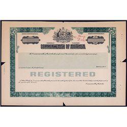Commonwealth of Australia Specimen Bond.