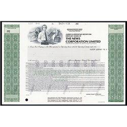 News Corporation Ltd. Specimen ADR.