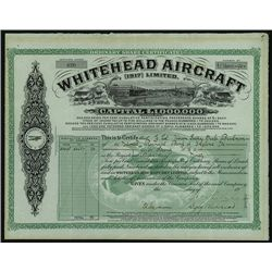Whitehead Aircraft Ltd. Issued Stock.