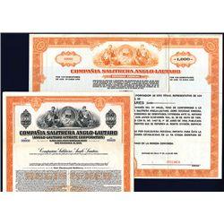 Compania Salitrera Anglo-Lautaro Specimen Bonds Lot of 2.