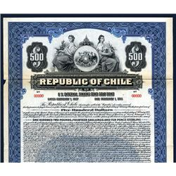 Republic of Chile Specimen Bond.