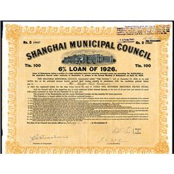 Shanghai Municipal Council, 6% Loan of 1926.