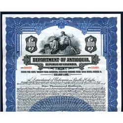 Department of Antioquia, Specimen Bond.