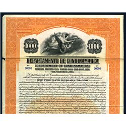 Department of Cundinamarca, Specimen Bond.
