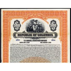 Republic of Columbia, Specimen Bond.