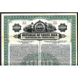 Republic of Costa Rica, Specimen Bond.
