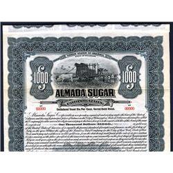 Almada Sugar Corp., Specimen Bond.