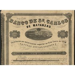 Banco de Sn. Carlos de Matanzas, Issued Bond.