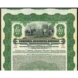 Baragua Sugar Co., Specimen Bond.