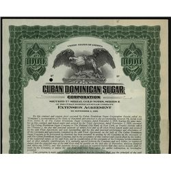 Cuban Dominican Sugar Corp., Specimen Bond.