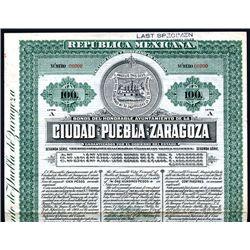 Ciudad De Puebla de Zaragoza Specimen Bond