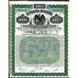 Republica Mexicana - Bono De La Deuda Consolidada Exterior Mexicana, Specimen Bond.