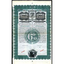 Republica Mexicana, Hayuntamiento De Cordoba - Republic of Mexico Bearer Bond.