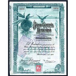 Banco Central Mexicano, 1908 I/U Stock-Bond.