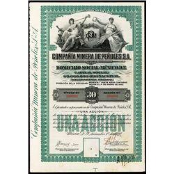 Compania Minera De Penoles, S.A., Specimen Bond.
