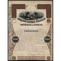 Compania Nacional del Ferrorarril Mineral de Paso. Bond Proof.