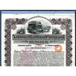 National Railroad Company of Mexico, 1902 Issued Speculative Bond.