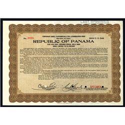 Republic of Panama Specimen Bond.