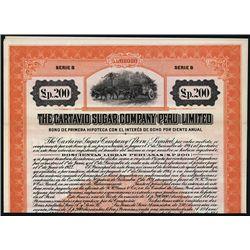 Cartavio Sugar Company (Peru) Ltd. Specimen Bond.