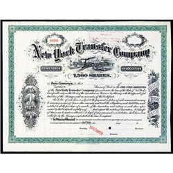 New York Transfer Co., Specimen Stock.