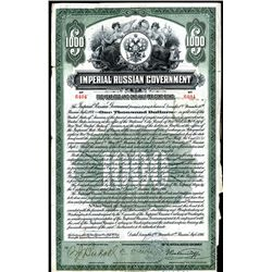 Imperial Russian Government, 1916 $1000 Issued Bond.