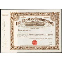 Russian Corporation Ltd. Specimen Stock.