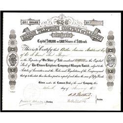 Edison Telephone Company of Glasgow, Issued Stock.