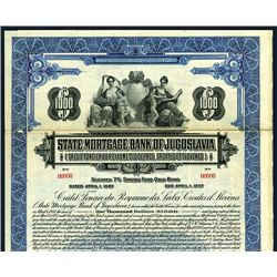 State Mortgage Bank of Jugoslavia, Specimen Stock.