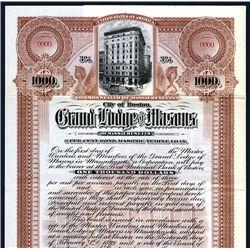 Grand Lodge of Masons Specimen Bond.